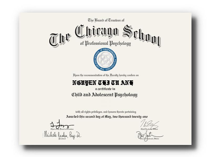 Certificate in Child & Adolescent Psychology - The Chicago School of Professional Psychology